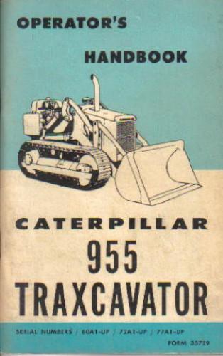 Caterpillar 955 Traxcavator Operators Manual