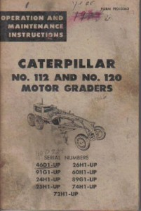 cat 14h grader operators manual