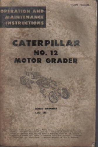 cat 14h grader operators manual