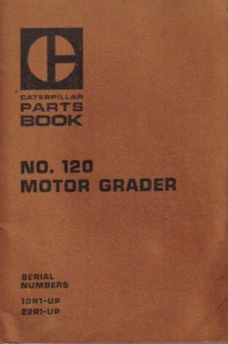 Used Caterpillar 120 Motor Grader Parts Manual