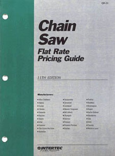 Chain Saw Flat Rate Pricing Guide