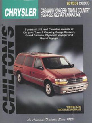 Chilton Dodge Caravan Voyager Town Country 1984-1995 Repair Manual