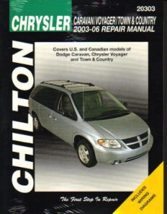 Chilton Dodge Caravan Voyager Town Country 2003-2007 Repair Manual