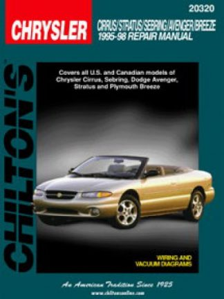 Chilton Chrysler Cirrus Stratus Sebring Avenger Breeze 1995-1998 Repair Manual