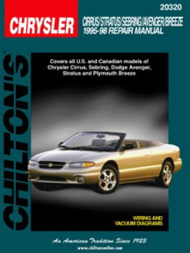 chilton chrysler cirrus stratus sebring avenger breeze 1995 1998 rh repairmanual com 1998 chrysler cirrus owners manual 1999 Chrysler Cirrus
