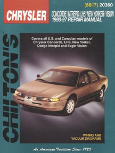 used chilton chrysler concorde intrepid new yorker lhs vision 1993 rh repairmanual com 1997 chrysler lhs owners manual pdf 1997 Chrysler LHS Specs