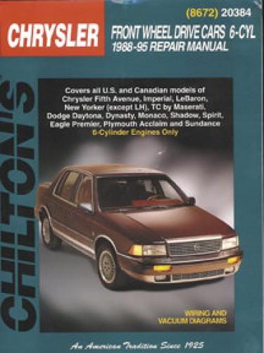 Chilton Chrysler Front Wheel Drive Cars - 6-Cyl 1988-1995 Repair Manual