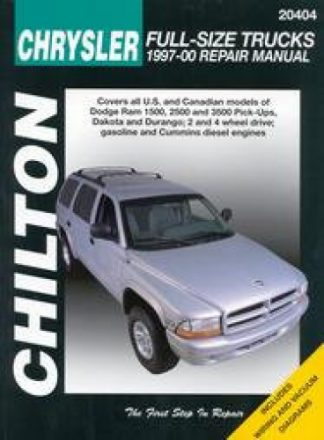 Chilton Dodge Pick-ups 1997-2001 Repair Manual