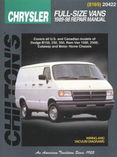 chilton dodge full size van 1989 1998 repair manual. Black Bedroom Furniture Sets. Home Design Ideas