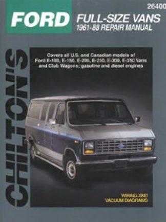 Chilton Ford Full Size Vans 1961-1988 Repair Manual
