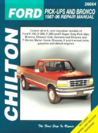 Chilton Ford Pick-Ups and Bronco 1987-1996 Repair Manual