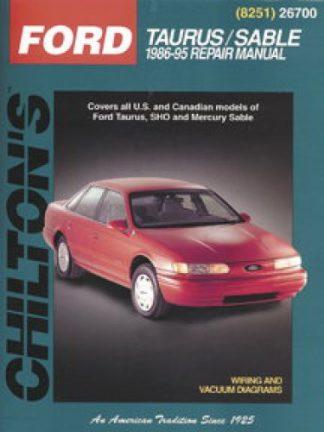 Ford Taurus Mercury Sable Repair Manual 1986-1995 Chilton