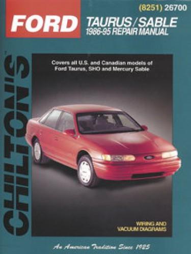 Ford Taurus Mercury Sable Repair Manual 1986