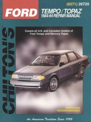 chilton ford tempo topaz 1984 1994 repair manual rh repairmanual com 1991 ford tempo owners manual 2005 Ford Freestar Owners Manual PDF