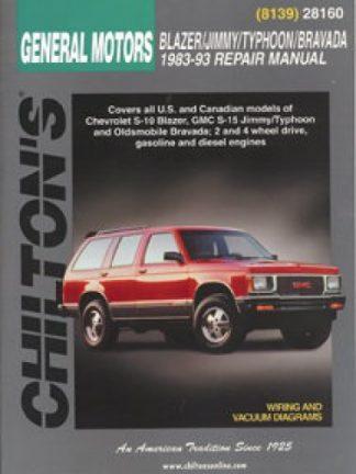 Chilton General Motors Blazer Jimmy Typhoon Bravada 1983-1993 Repair Manual