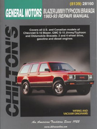Chilton General Motors Blazer Jimmy Typhoon Bravada 1983