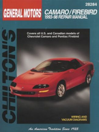 Chilton Chevrolet Camaro Pontiac Firebird 1993-2002 Repair Manual