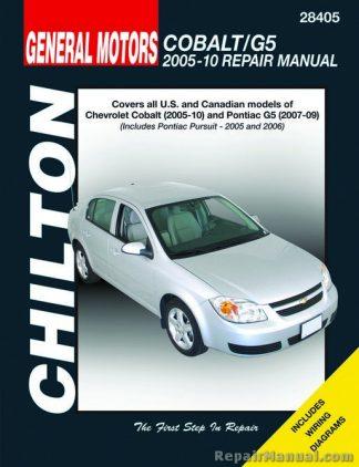 Chiltons Chevrolet Cobalt Pontiac G5 2005-2010 Auto Repair Manual