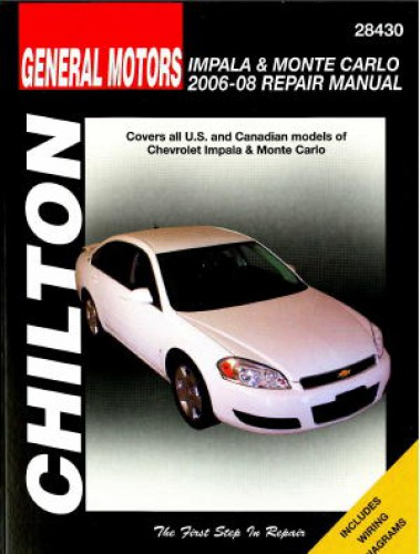 Manual for 2008 chevy impala