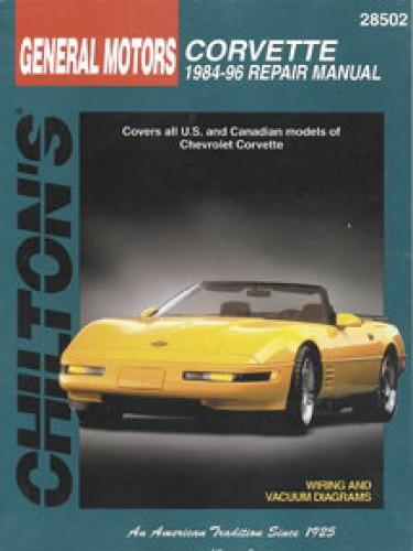 chilton chevrolet corvette 1984 1996 repair manual rh repairmanual com 1996 corvette service manual pdf 1996 corvette owners manual online