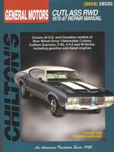 oldsmobile cutlass rear wheel drive 1970 1987 chilton repair manual rh repairmanual com