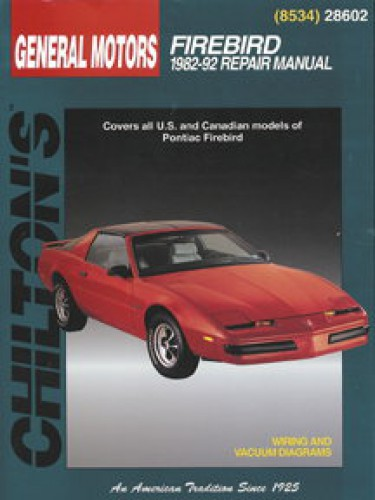 pontiac firebird 1982 1992 chilton repair manual rh repairmanual com Haynes Repair Manuals Online Online Repair Manuals