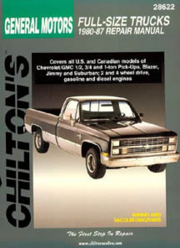 Chilton General Motors Full Size Trucks 1980 1987 Repair