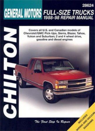 Chilton General Motors Full-Size Trucks 1988-1998 Repair Manual