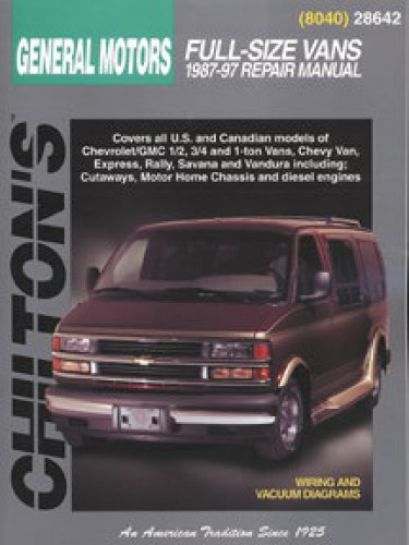 Chilton General Motors Full Size Vans 1987 1997 Repair Manual