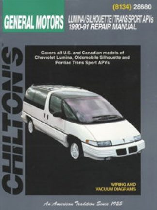 Chilton GM Lumina APV Silhouette Trans Sport Venture 1990-1999 Repair Manual