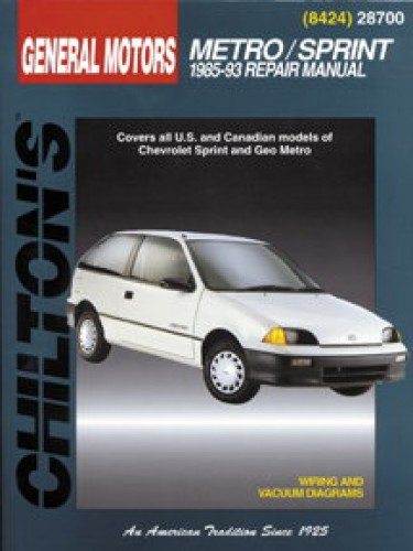 Chilton General Motors Metro Sprint Swift 1985 2000 Repair