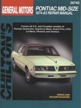 Used Chilton GM Pontiac Mid-Size 1974-1983 Repair Manual