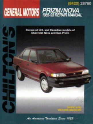 Chilton GM Nova Prizm 1985-1993 Repair Manual