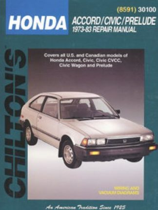 Chilton Honda Accord Civic Prelude 1973-1983 Repair Manual