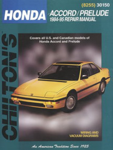 chilton honda accord prelude 1984 1995 repair manual rh repairmanual com 1993 honda prelude service manual pdf 1993 honda prelude owners manual