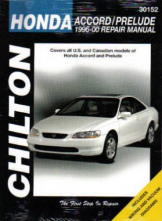 Chilton Honda Accord Prelude 1996-2000 Repair Manual