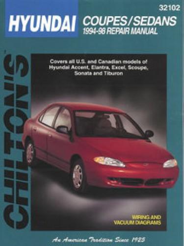 chilton hyundai coupes sedans 1994 1998 repair manual rh repairmanual com 2001 Hyundai Elantra Parts Manual 2002 Hyundai Elantra Thermostat Housing