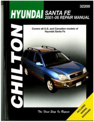 Chilton Hyundai Sante Fe 2001-2006 Repair Manual