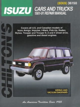 Chilton Isuzu Cars and Trucks 1981-1991 Repair Manual