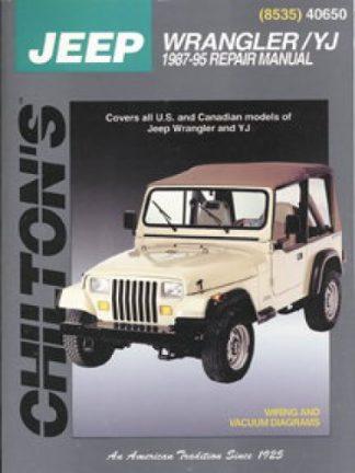 Chilton Jeep Wrangler YJ 1987-2011 Repair Manual