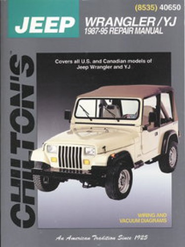 chilton jeep wrangler yj 1987 2011 repair manual rh repairmanual com jeep wrangler yj owners manual jeep yj owners manual pdf download