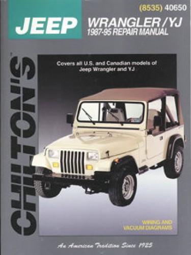 Chilton Jeep Wrangler Yj 1987 2011 Repair Manual