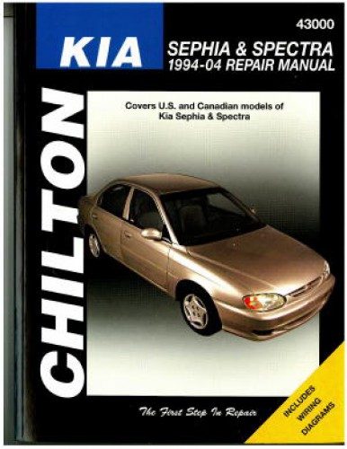chilton 1994 2004 kia sephia spectra repair manual rh repairmanual com 2004 Kia Spectra Tune-Up 2004 kia spectra owners manual