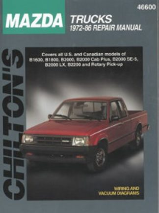 Chilton Mazda Trucks 1972-1986 Repair Manual