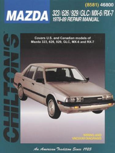 chilton mazda 323 626 929 glc mx 6 rx 7 1978 1989 repair manual rh repairmanual com 1989 Mazda Protege 1994 Mazda 5Dr Hatchback