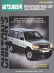 Used Chilton Mitsubishi Pick-ups and Montero 1983-1995 Repair Manual