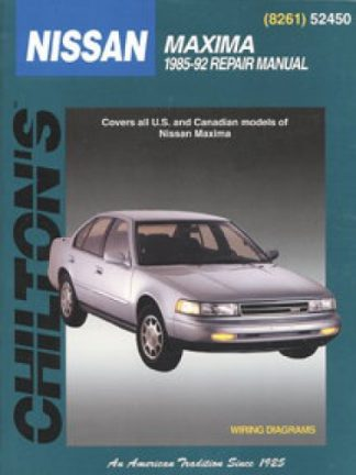 Chilton Nissan Maxima 1985-1992 Repair Manual
