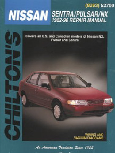 chilton nissan sentra pulsar nx 1982 1996 repair manual. Black Bedroom Furniture Sets. Home Design Ideas