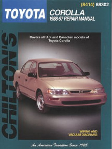 chilton toyota corolla 1988 1997 repair manual rh repairmanual com 1988 toyota corolla workshop manual free download 1989 Corolla