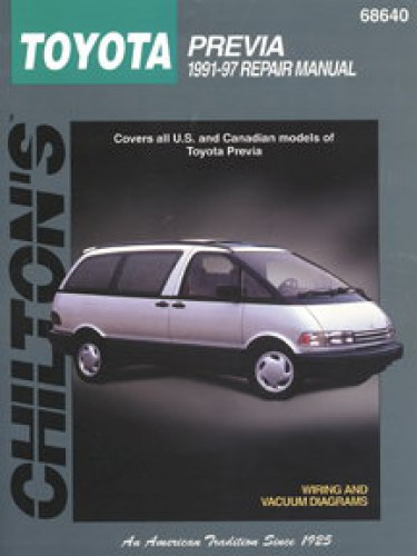 Toyota Previa Owners Manual